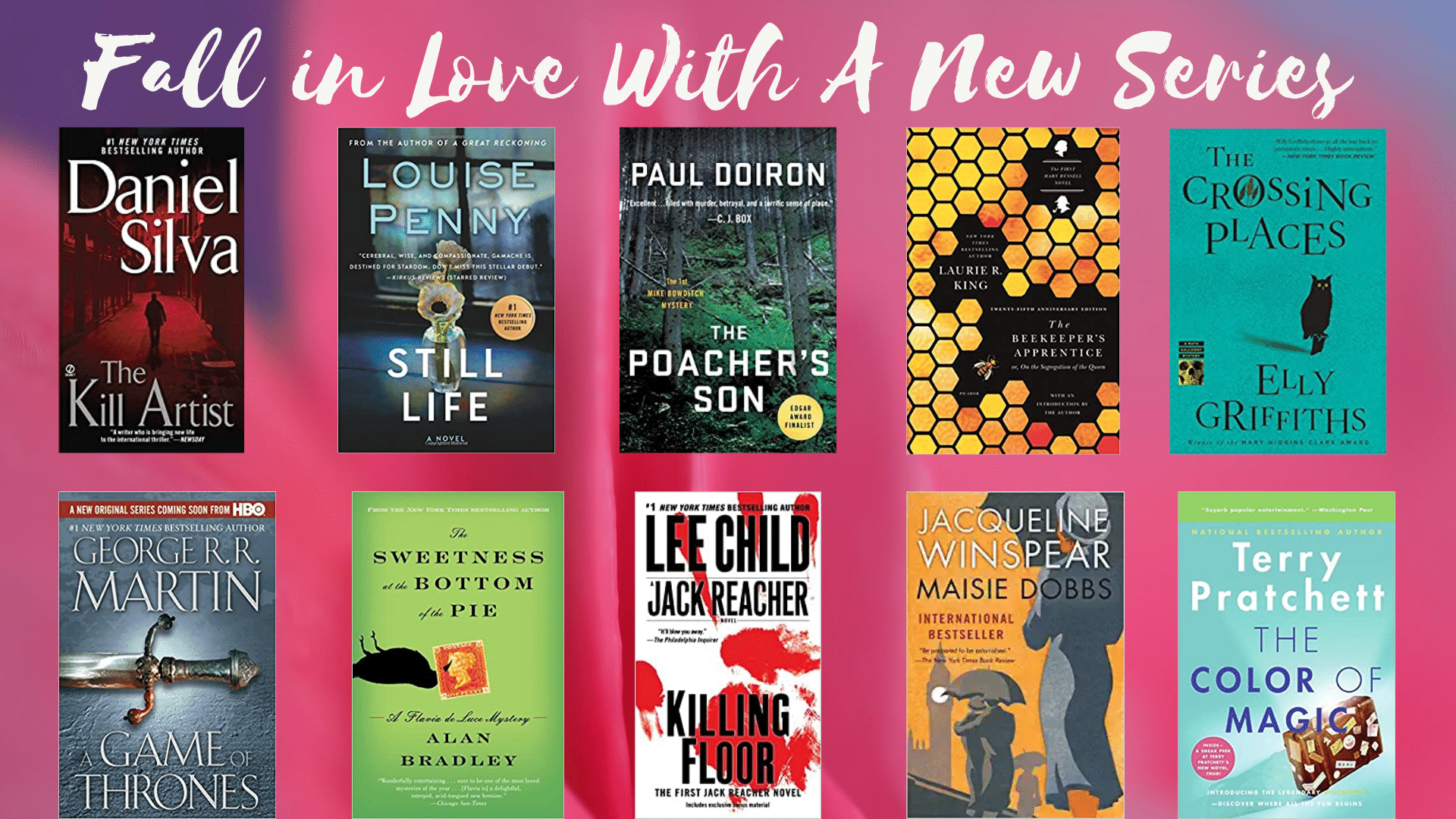 fall in love with a new book series list