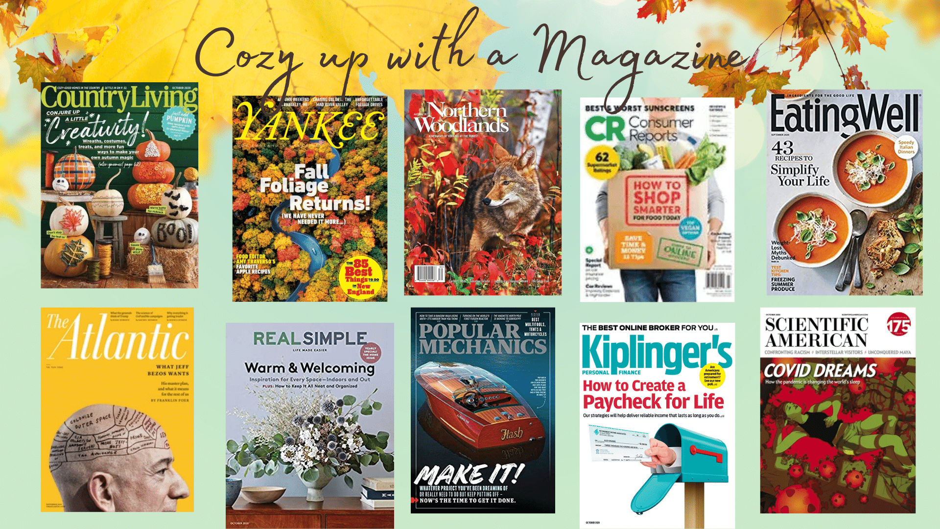 cozy up with a magazine booklist