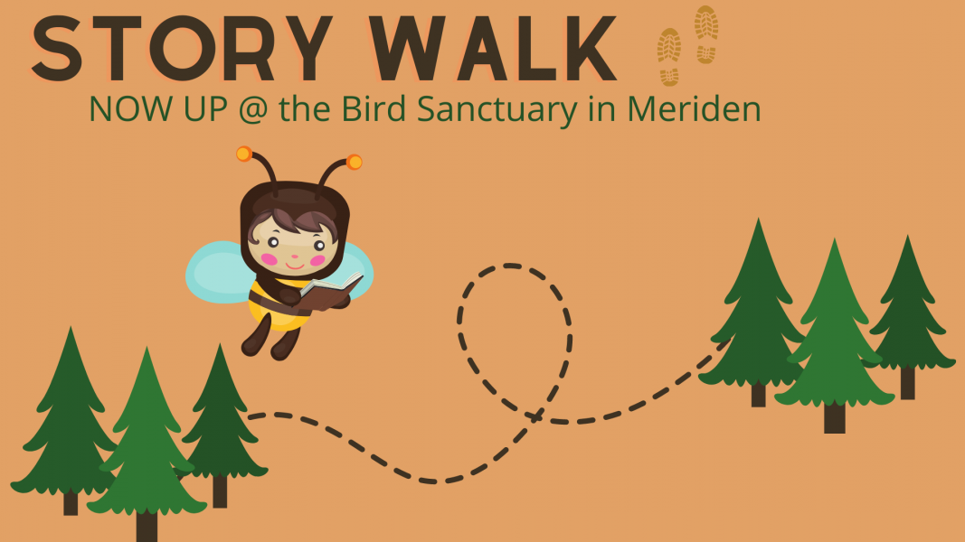story walk now up at the meriden bird sanctuary
